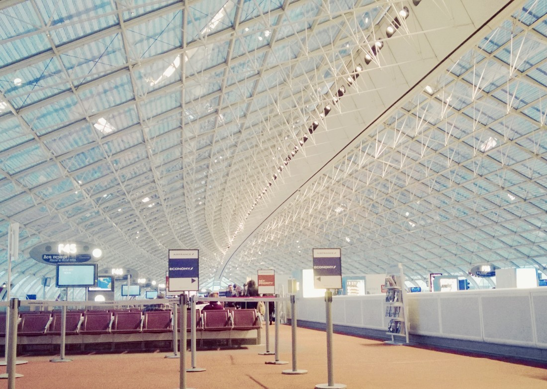 Charles de Gaulle airport, Paris, France. Not pictured: the smell.