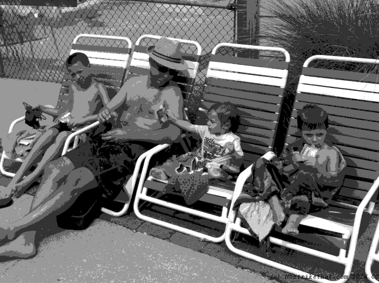 dad-at-pool-bw