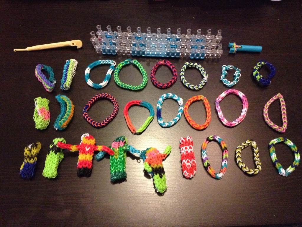Homicidal maniacs would then be confined with rainbow loom bracelets until the authorities arrived